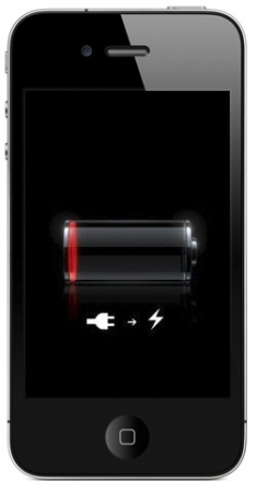 iphone 4s battery low