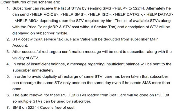 BSNL STV Code north 4