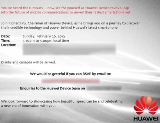 Huawei MWC 2012 press conference