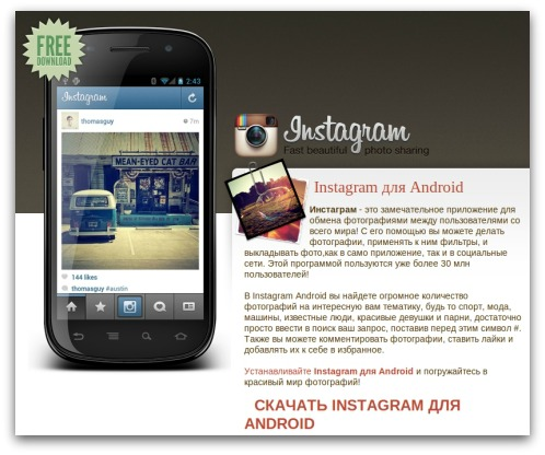Fake Instagram App